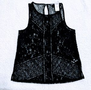 New Express Black Lace Tank Top Size Small